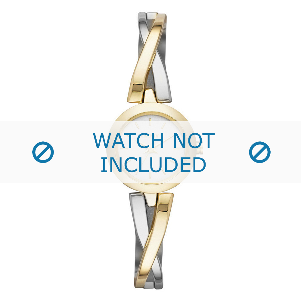 DKNY horlogeband NY-2171 Staal Goud (Doublé) 22mm