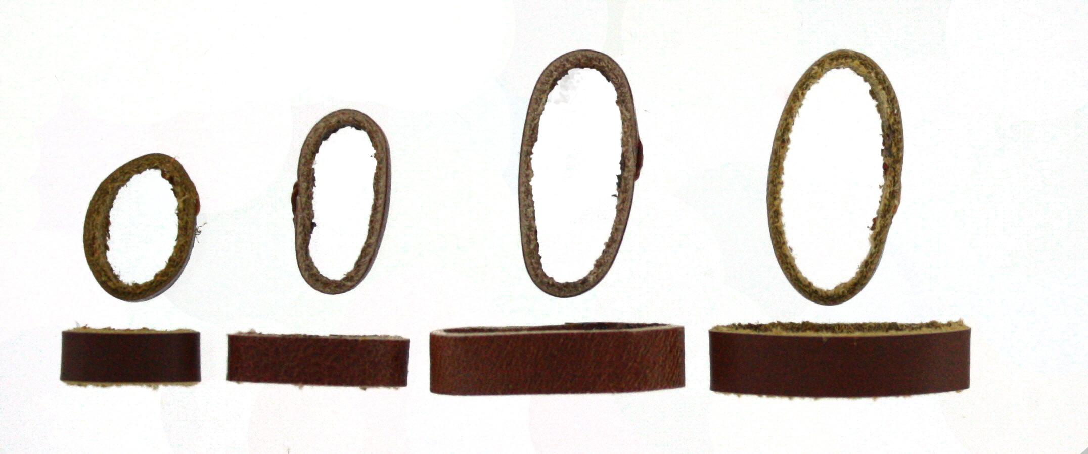 Horlogeband passantje / lusje leder bruin 22mm