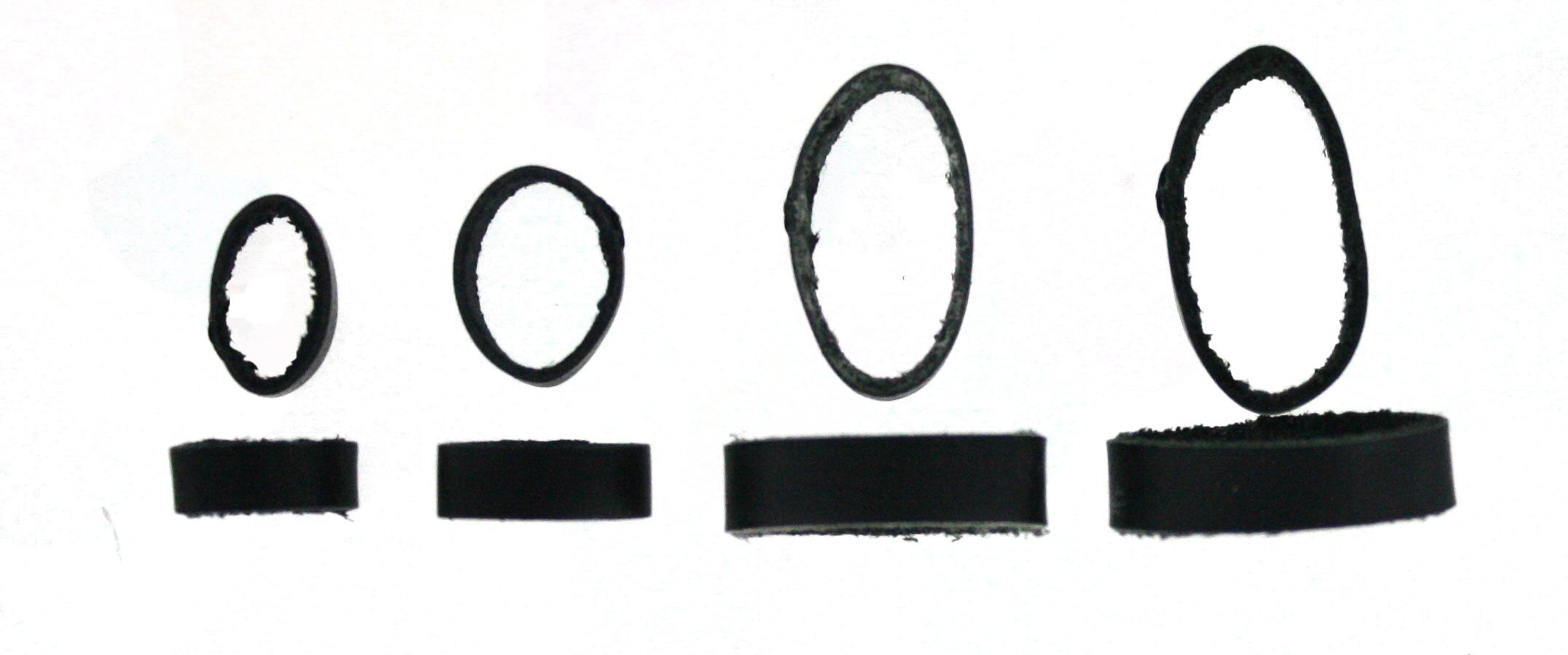 Horlogeband passantje / lusje leder zwart 18mm