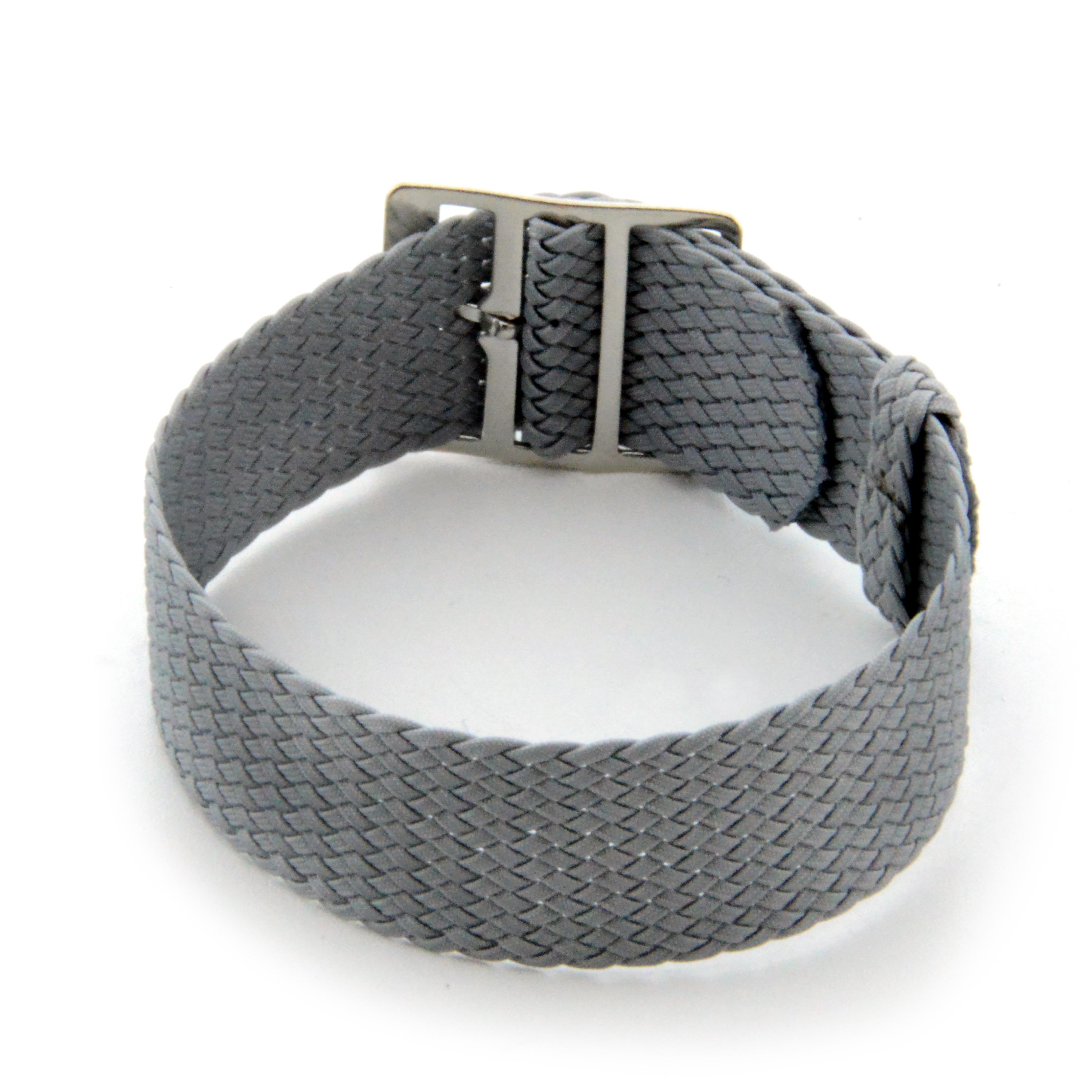 Perlon band 12mm grijs