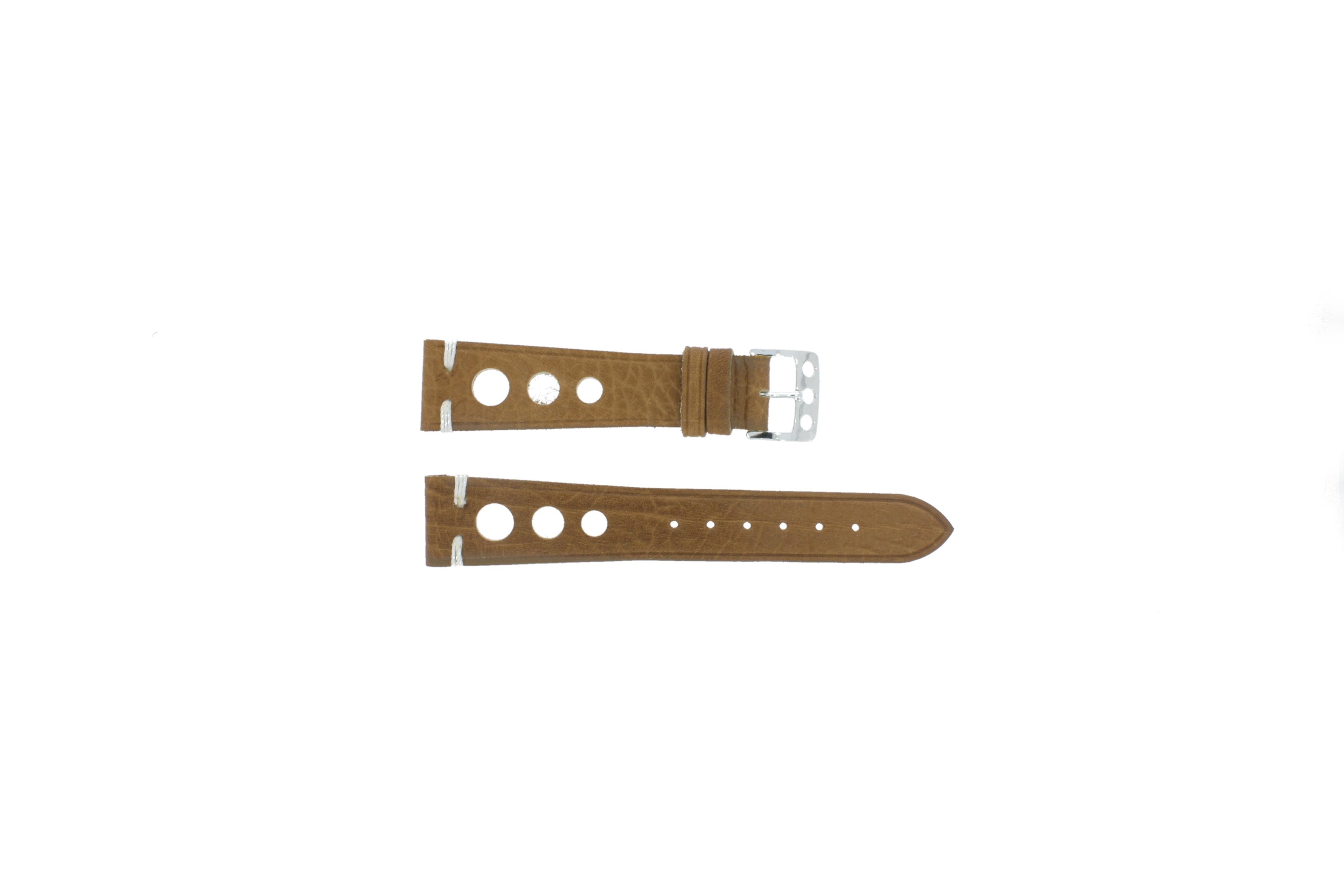 Horlogeband Leder 20mm Lichtbruin TZE-103/56.7
