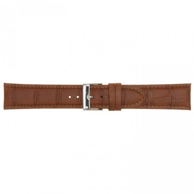 Leder horlogeband cognac 18mm PVK-469