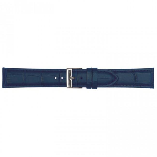 Leder horlogeband donkerblauw 20mm PVK-469