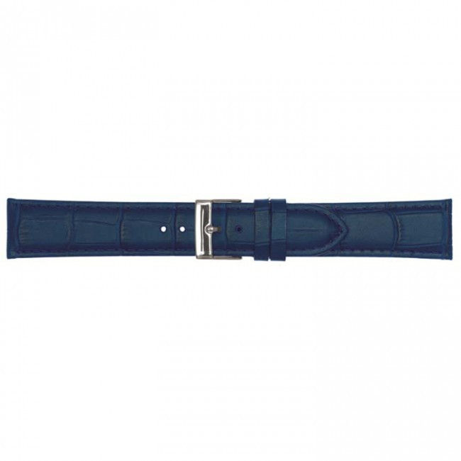 Leder horlogeband donkerbruin 20mm PVK-469