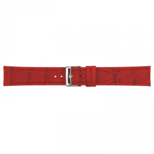 Leder horlogeband rood 20mm PVK-469