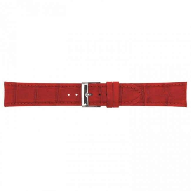 Leder horlogeband rood 18mm PVK-469