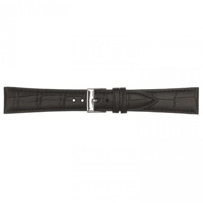 Leren horlogeband zwart 14mm PVK-497
