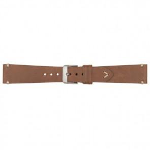 Horlogeband 18mm leder cognac 675