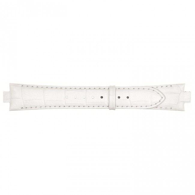 Lederen horlogeband 10mm wit 868U