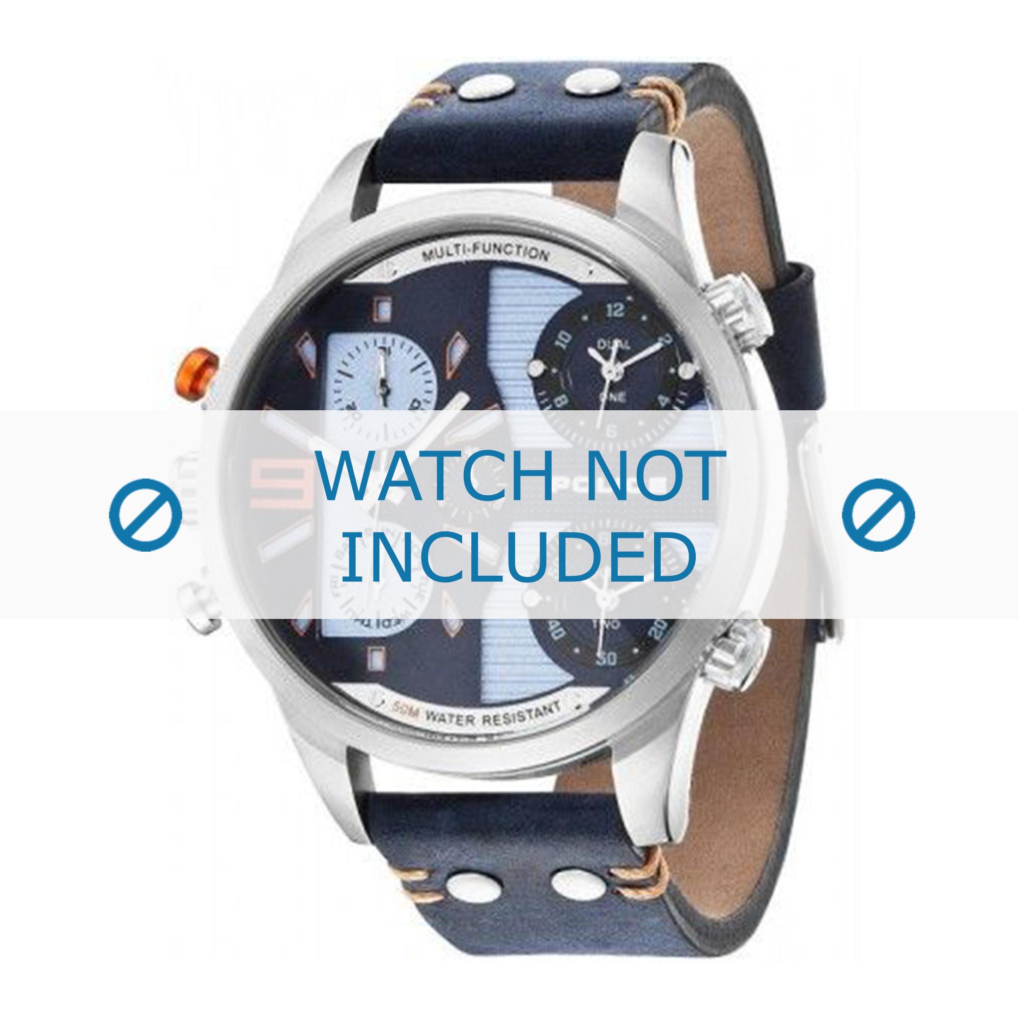 Police horlogeband PL.14374JS-03 Leder Blauw