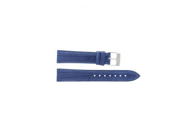 Blauw lederen horlogeband 18mm PVK-564