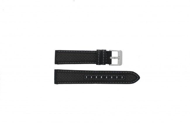 Horlogeband carbon zwart 22mm PVK-865