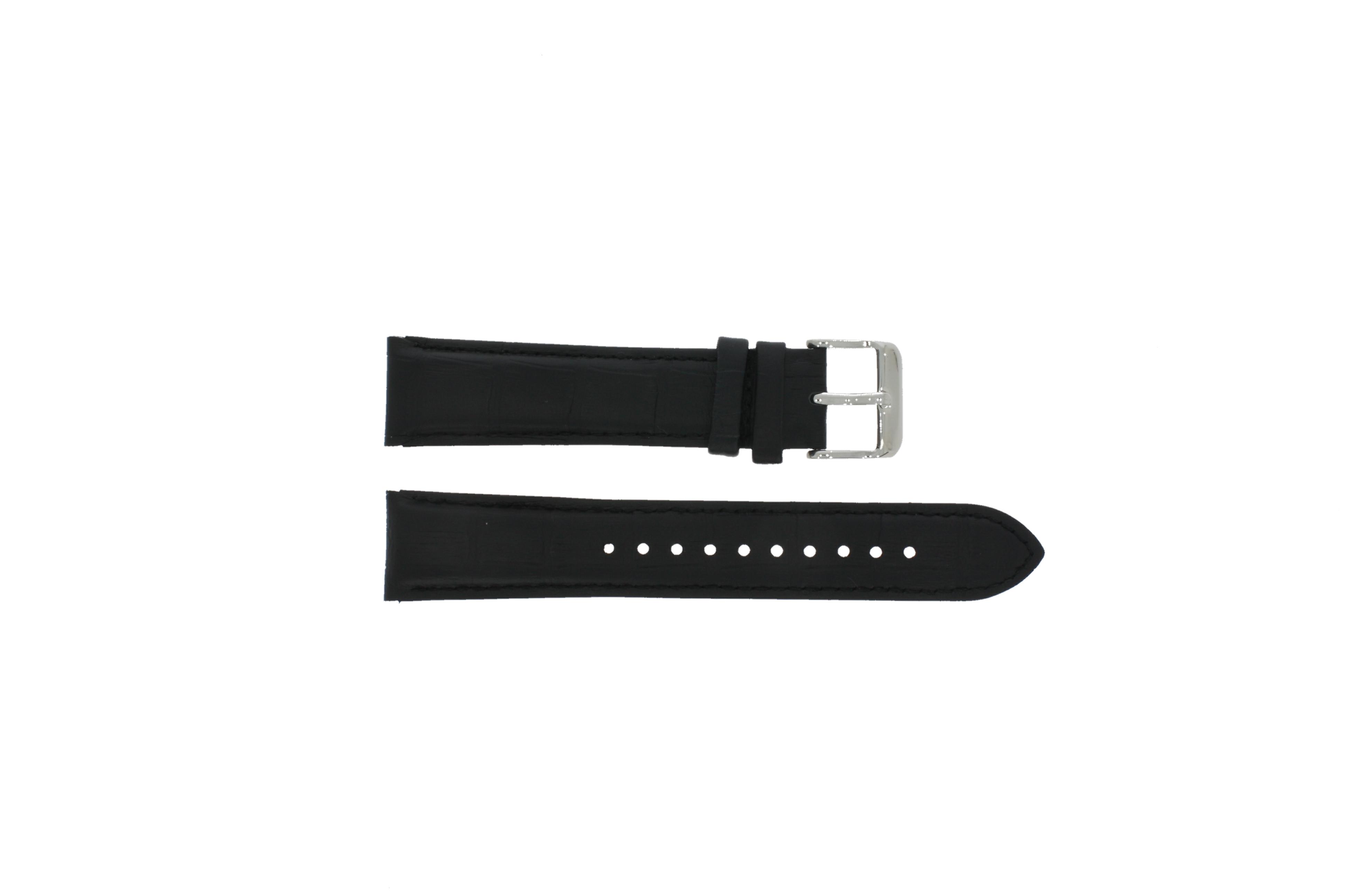 Pulsar horlogeband YM62-X225 Leder Zwart 20mm