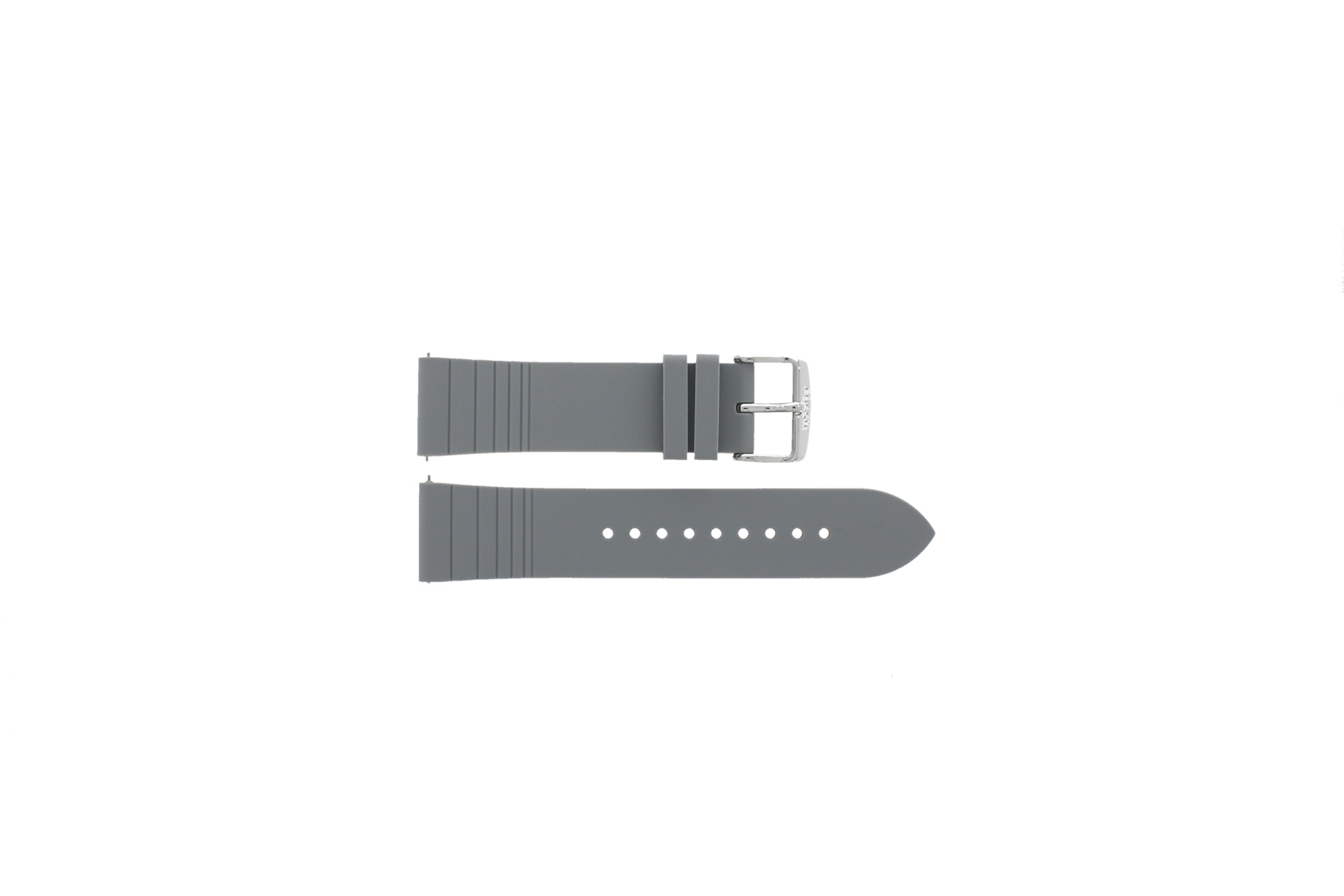 Fossil horlogeband S221350 Leder Grijs 22mm + standaard stiksel