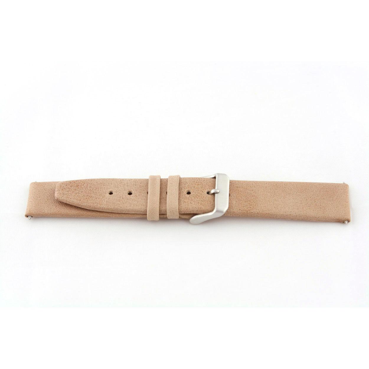 Echt leder horlogeband Beige 24mm G33