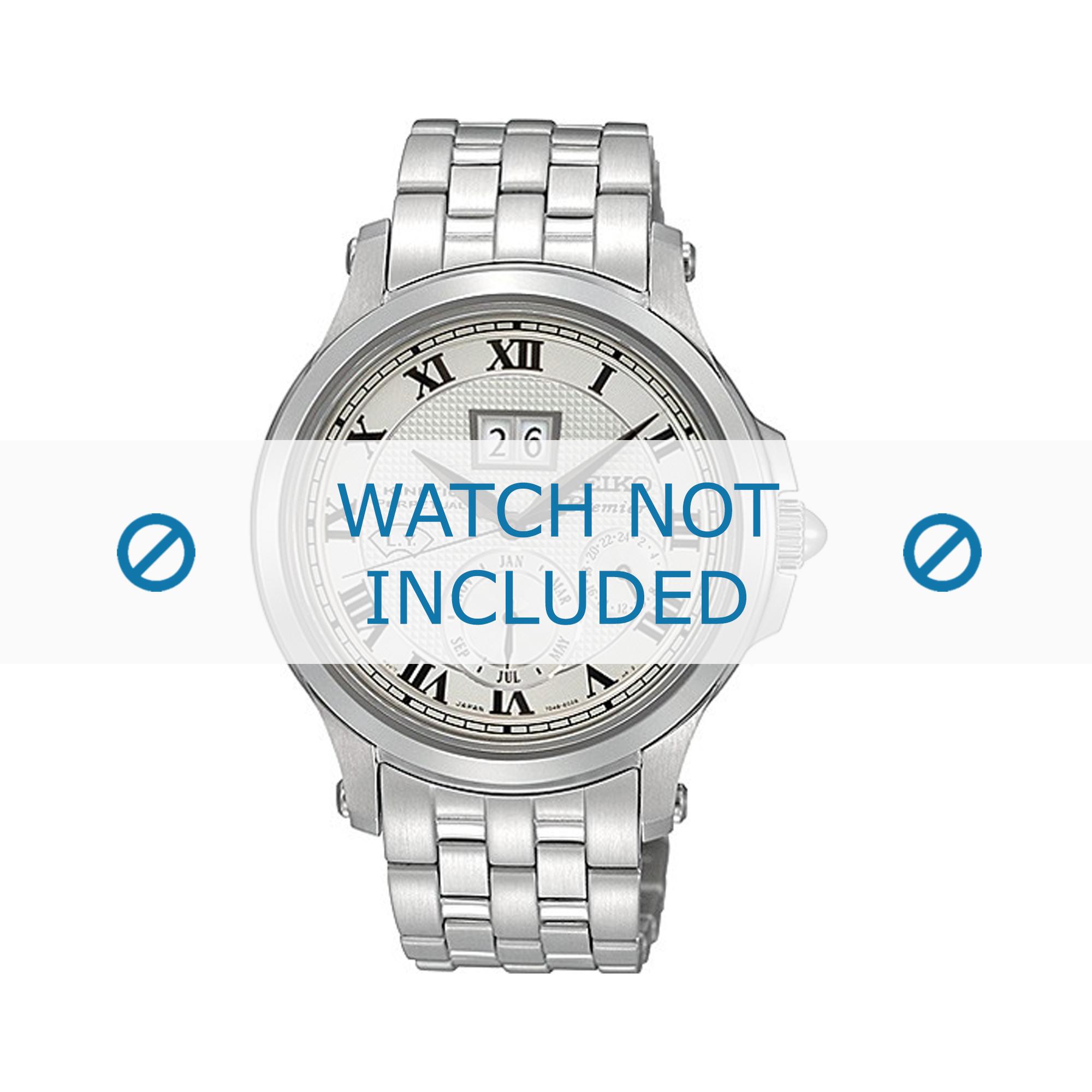 Seiko horlogeband SNP039P1 / 7D48-0AG0 01B / M0NB111J0 Staal Zilver 20mm