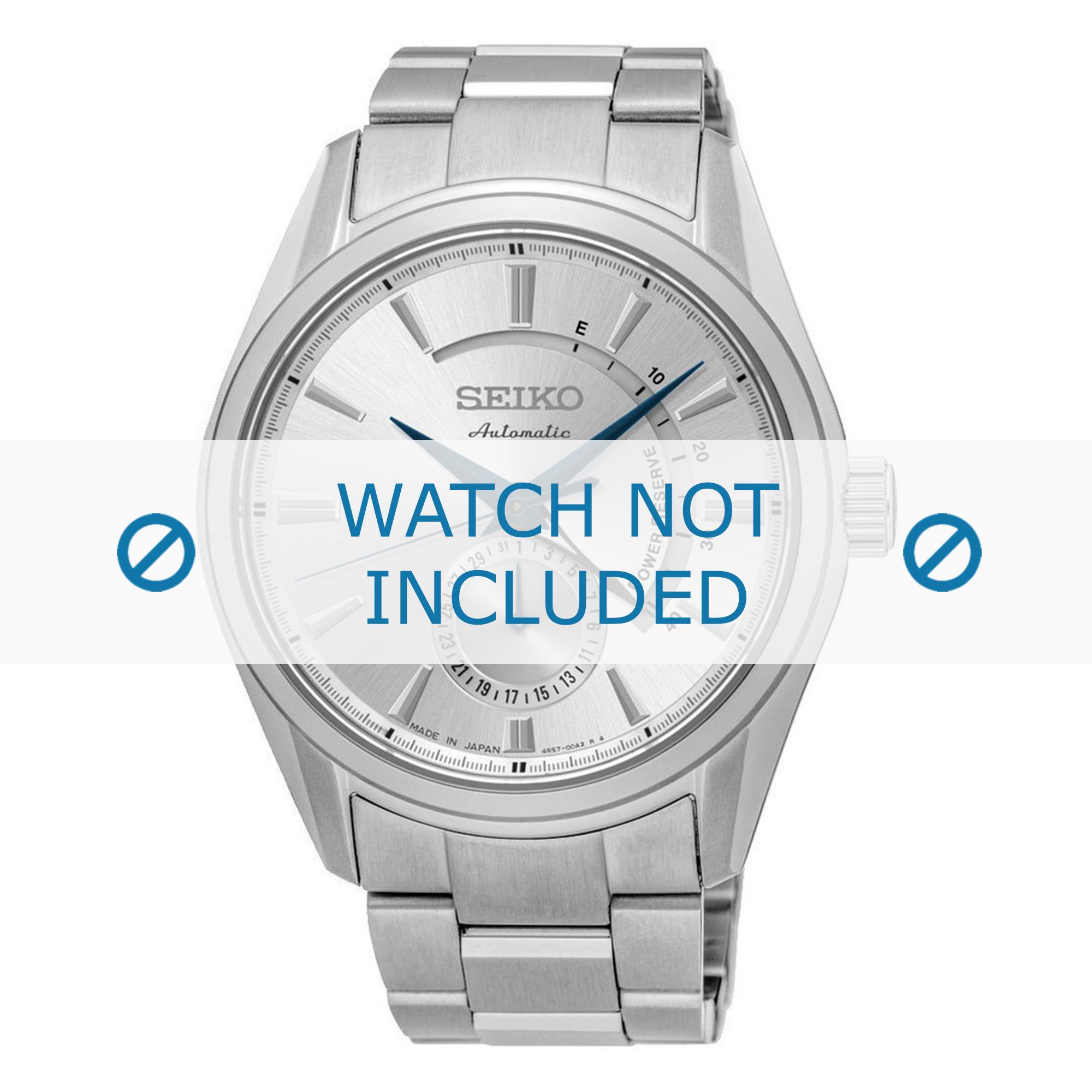 Seiko horlogeband 4R57-00A0-SSA303J1 / SSA305J1 Staal Zilver 22mm
