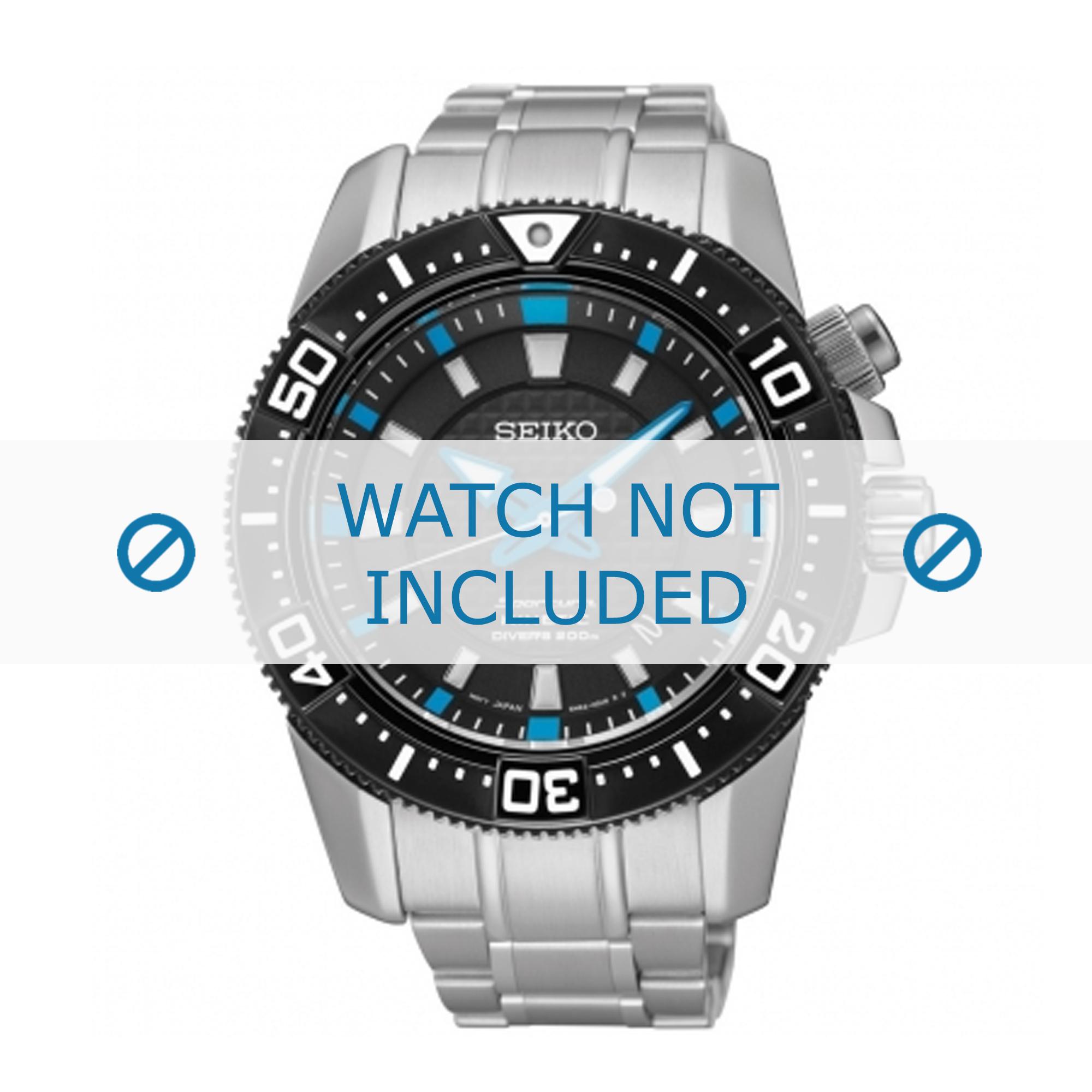 Seiko horlogeband 5M62-0CS0 Rubber Blauw 21mm