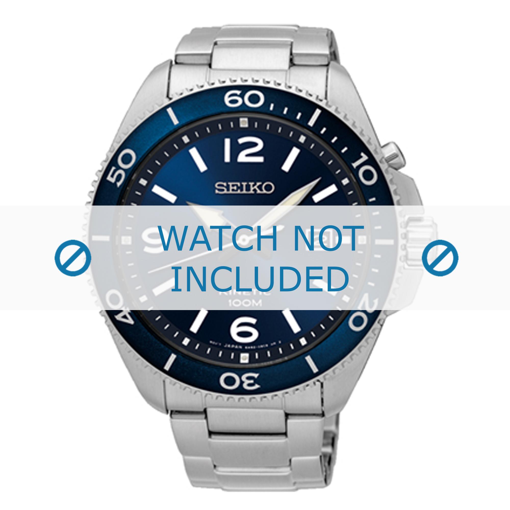 Seiko horlogeband 5M82-0AY0-SKA745P1 / SKA747P1 Staal Zilver 22mm