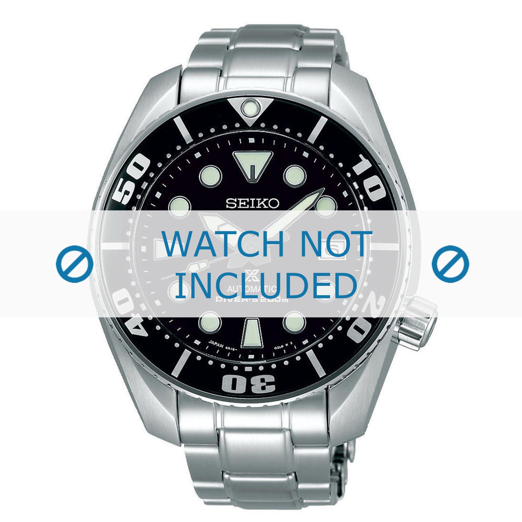 Seiko horlogeband 6R15-00G0-SBDC031J / SBDC033J Staal Zilver 19mm