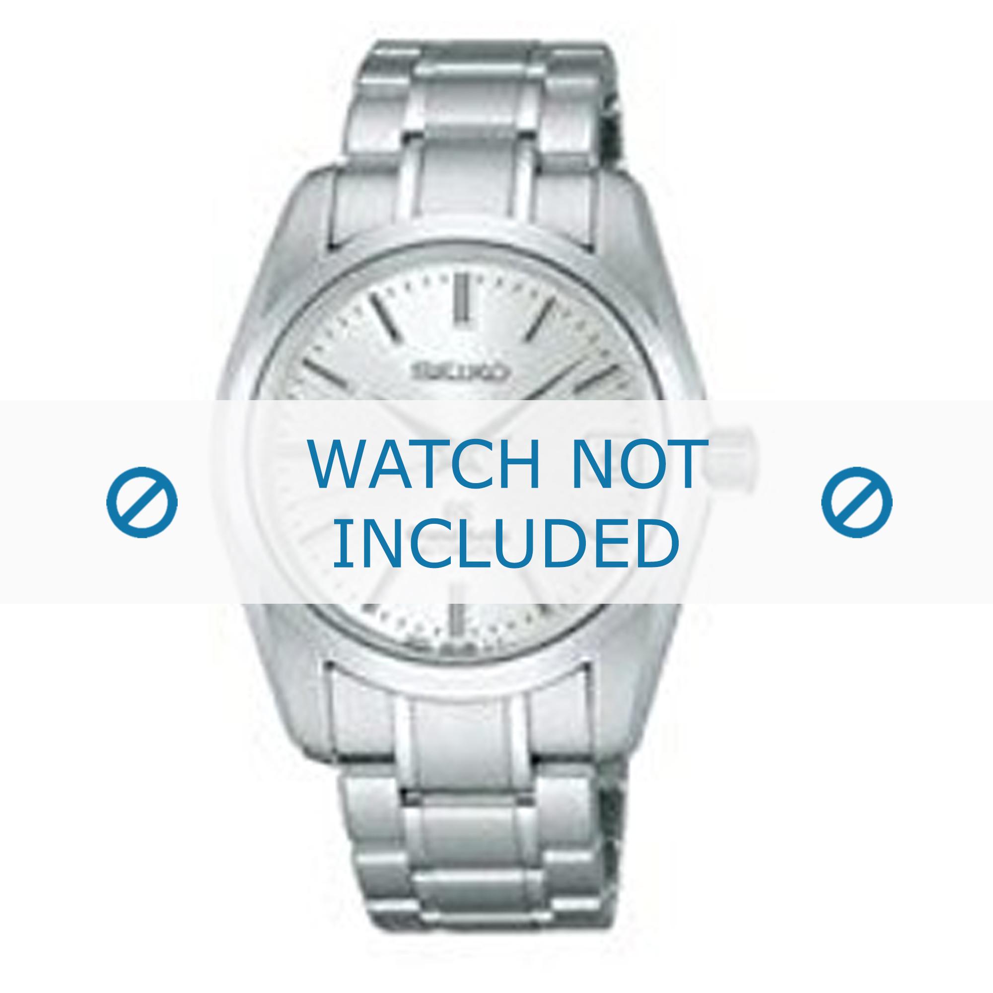 Seiko horlogeband 9S65-00B0-SBGR051G Staal Zilver