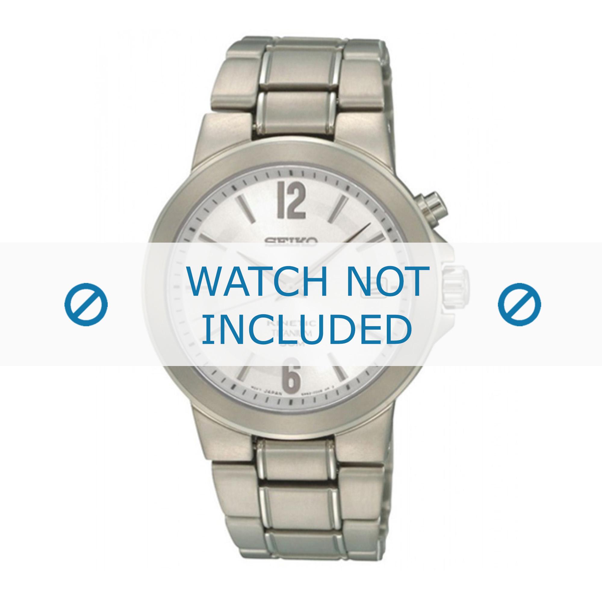 Seiko horlogeband SKA479P1 / 5M62 0BE0 Titanium Zilver