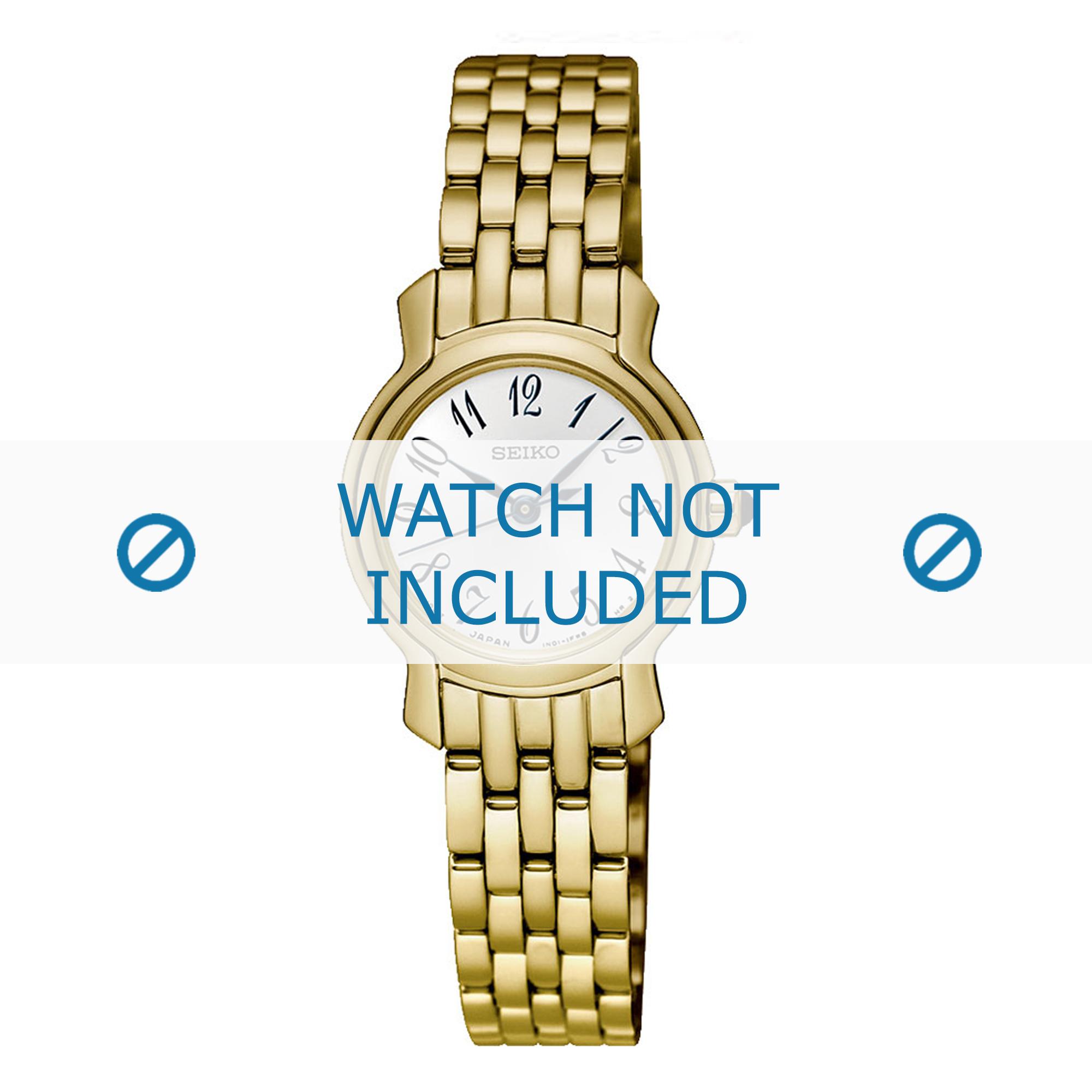 Seiko horlogeband SXGP64P1 / 1N01 0SG0 Staal Goud 11mm