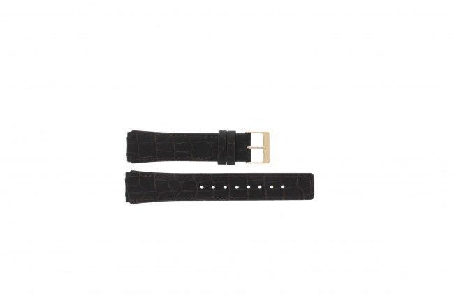 Skagen horlogeband 331XLRLD / 331XLRLDO Leder Bruin 19mm + bruin stiksel