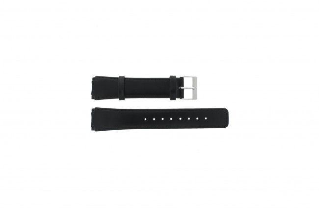 Skagen horlogeband 331LSLB Leder Zwart 18mm