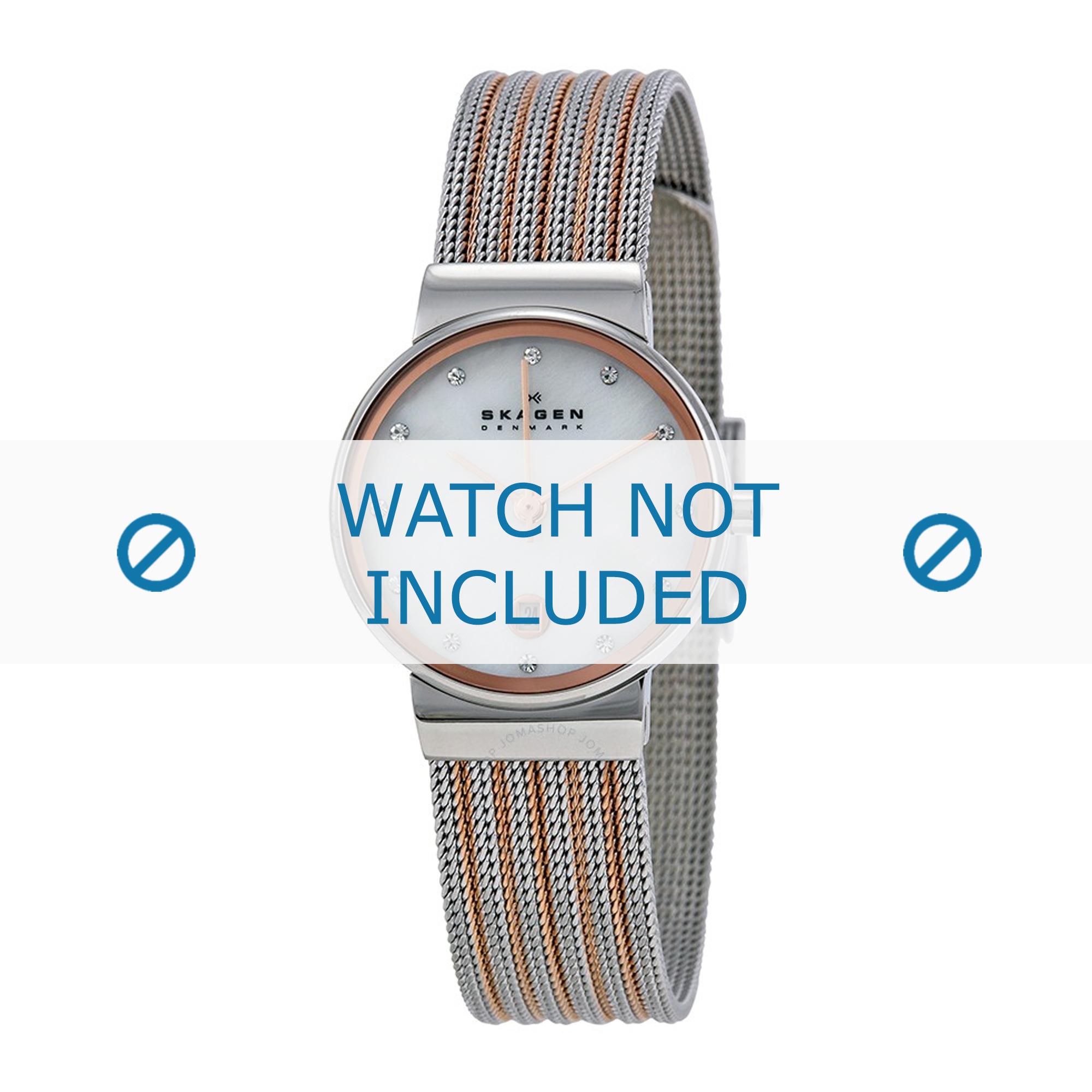 Skagen horlogeband 355SSRS Staal Rosé 14mm