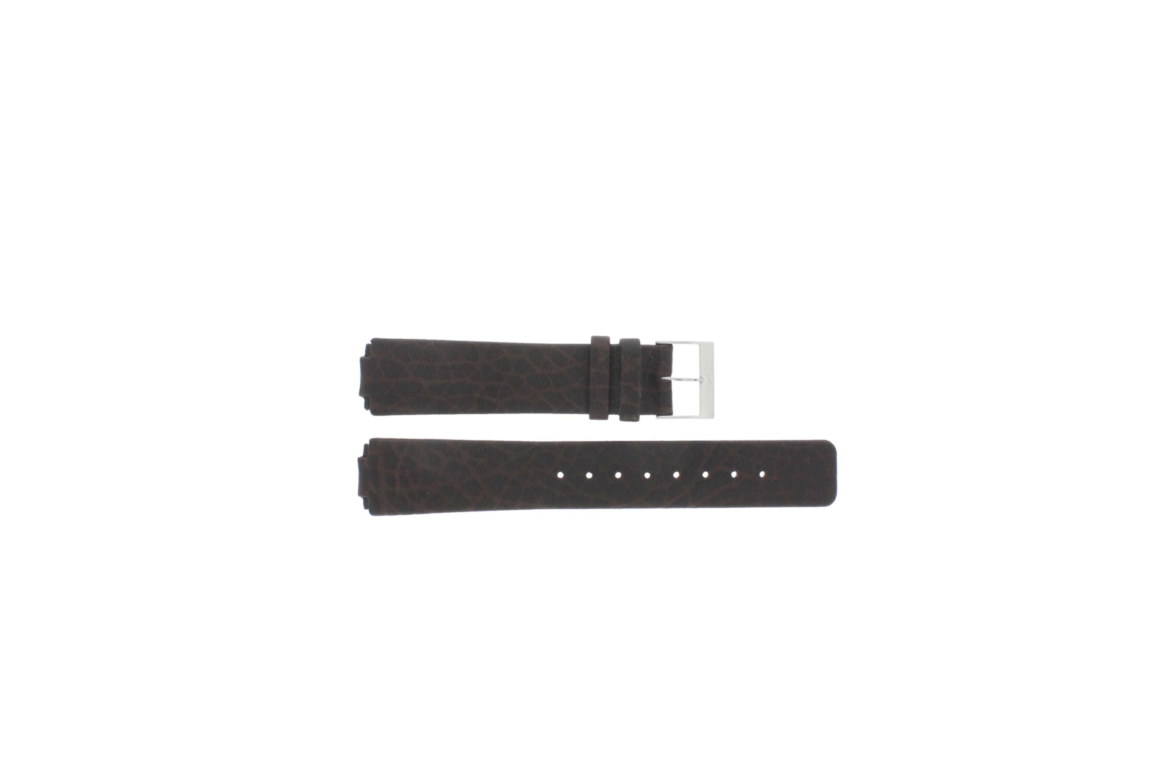 Skagen horlogeband 433LSGL1 Leder Bruin 18mm