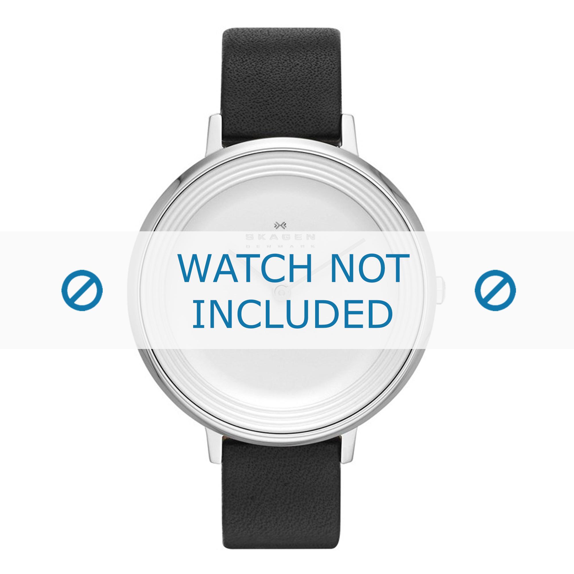 Skagen horlogeband SKW2261 Leder Zwart