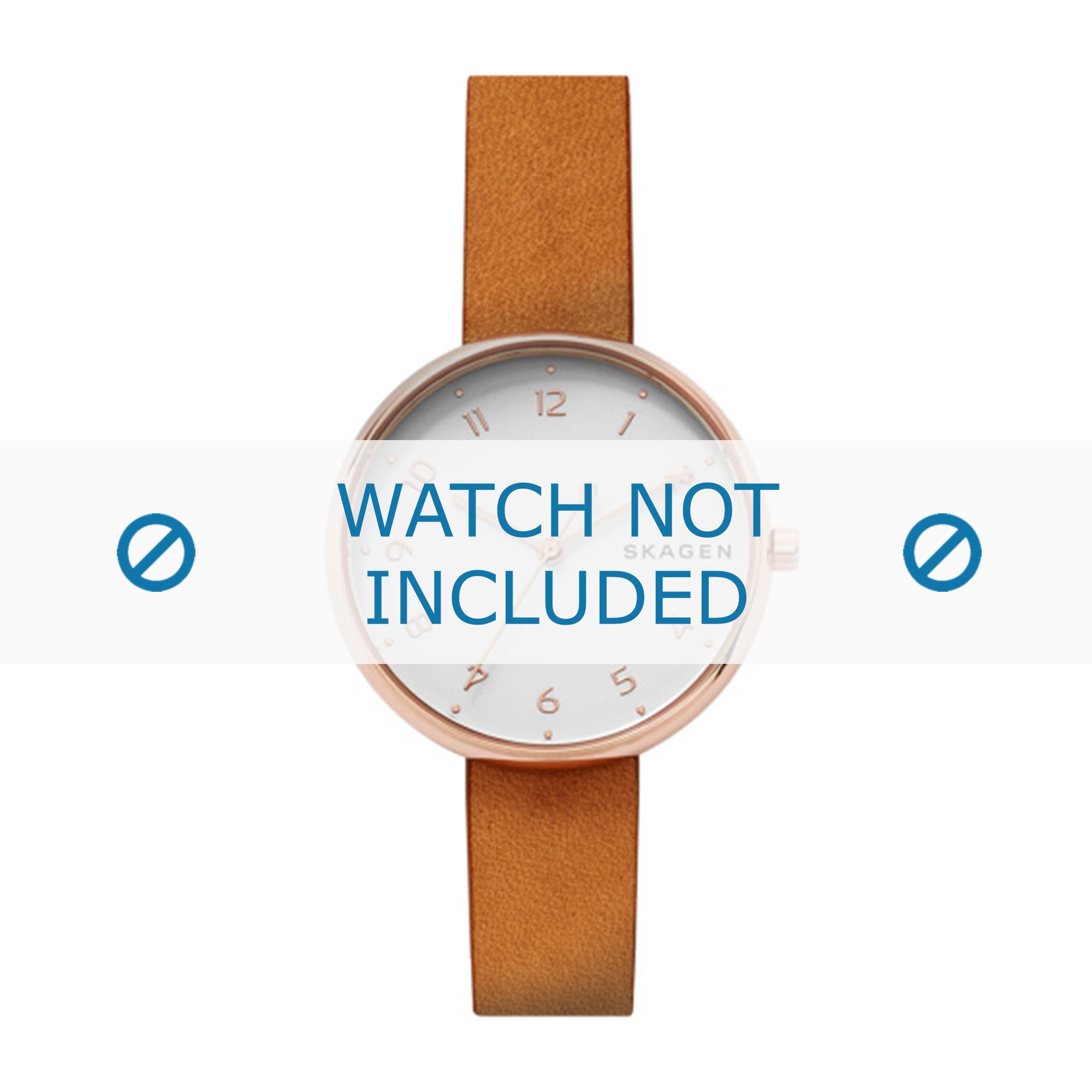 Skagen horlogeband SKW2624 Leder Cognac 14mm