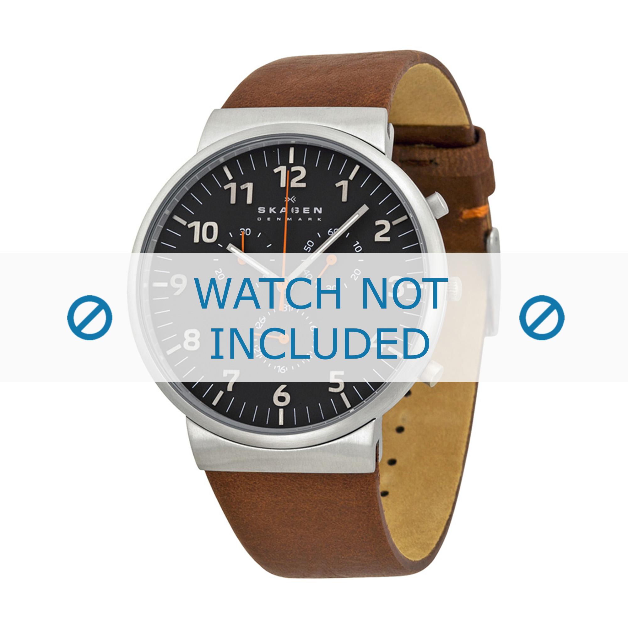 Skagen horlogeband SKW6099 Leder Bruin 22mm