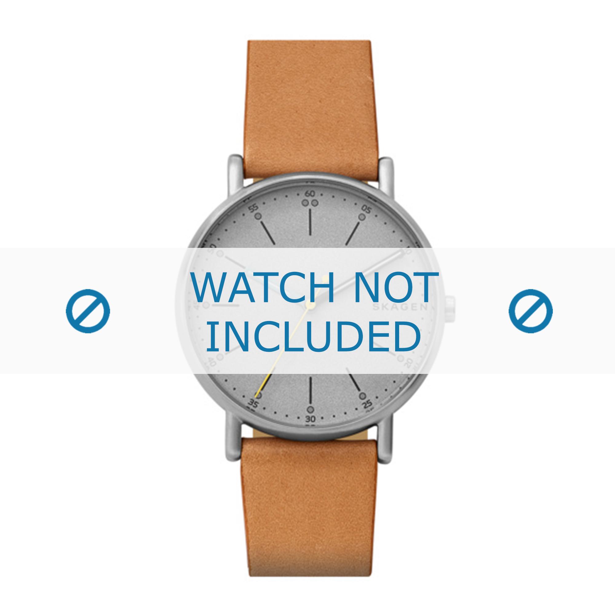 Skagen horlogeband SKW6373 Leder Cognac 20mm