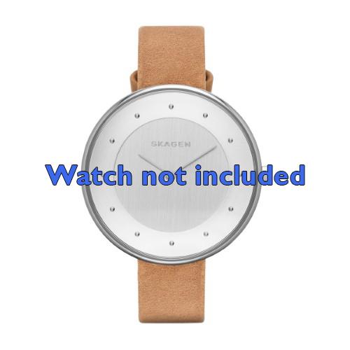 Skagen horlogeband SKW2326 Leder Bruin 14mm