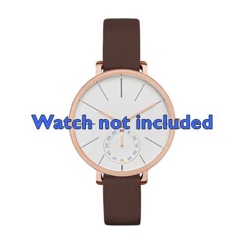 Skagen horlogeband SKW2356 Leder Bruin 12mm