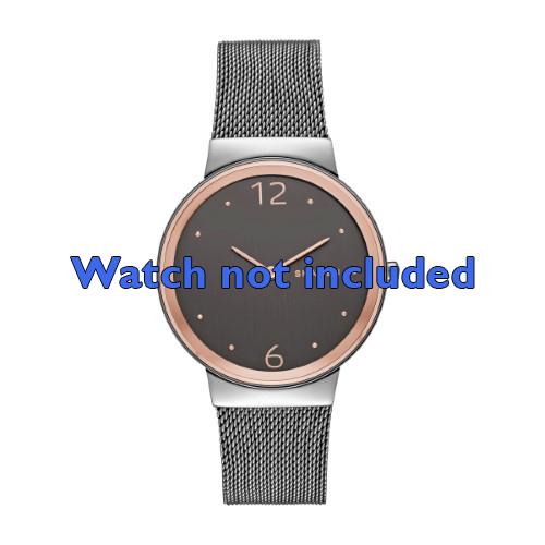 Skagen horlogeband SKW2382 Staal Grijs 18mm