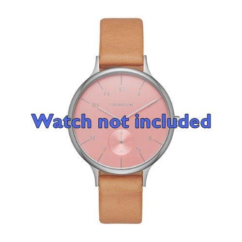 Skagen horlogeband SKW2406 Leder Bruin 14mm