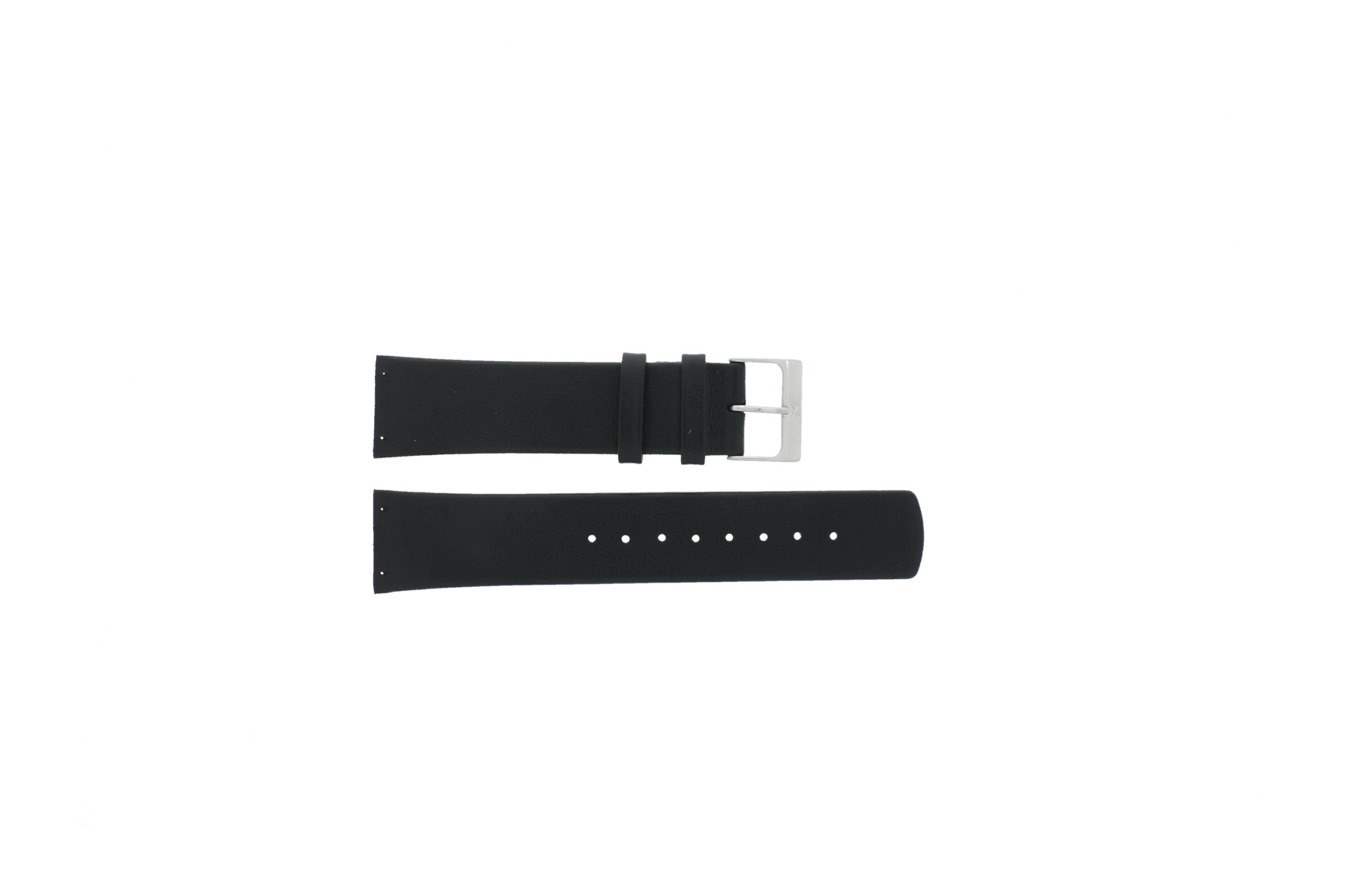 Skagen horlogeband SKW6024 Leder Zwart 22mm