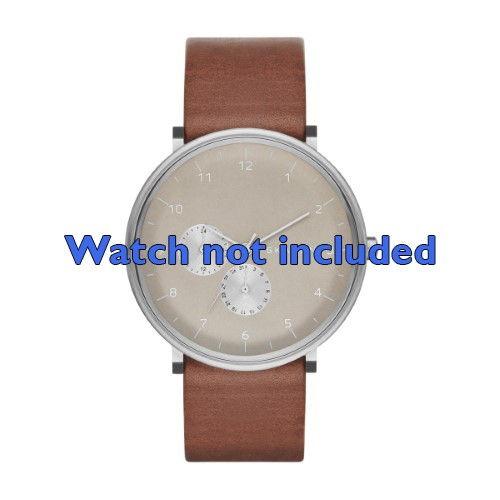 Skagen horlogeband SKW6168 Leder Bruin 20mm