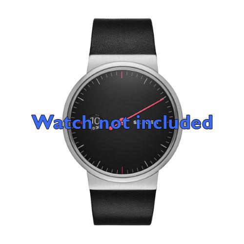 Skagen horlogeband SKW6236 Leder Zwart 22mm