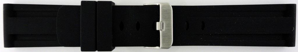 Horlogeband Rubber 20mm Zwart PVK SL105