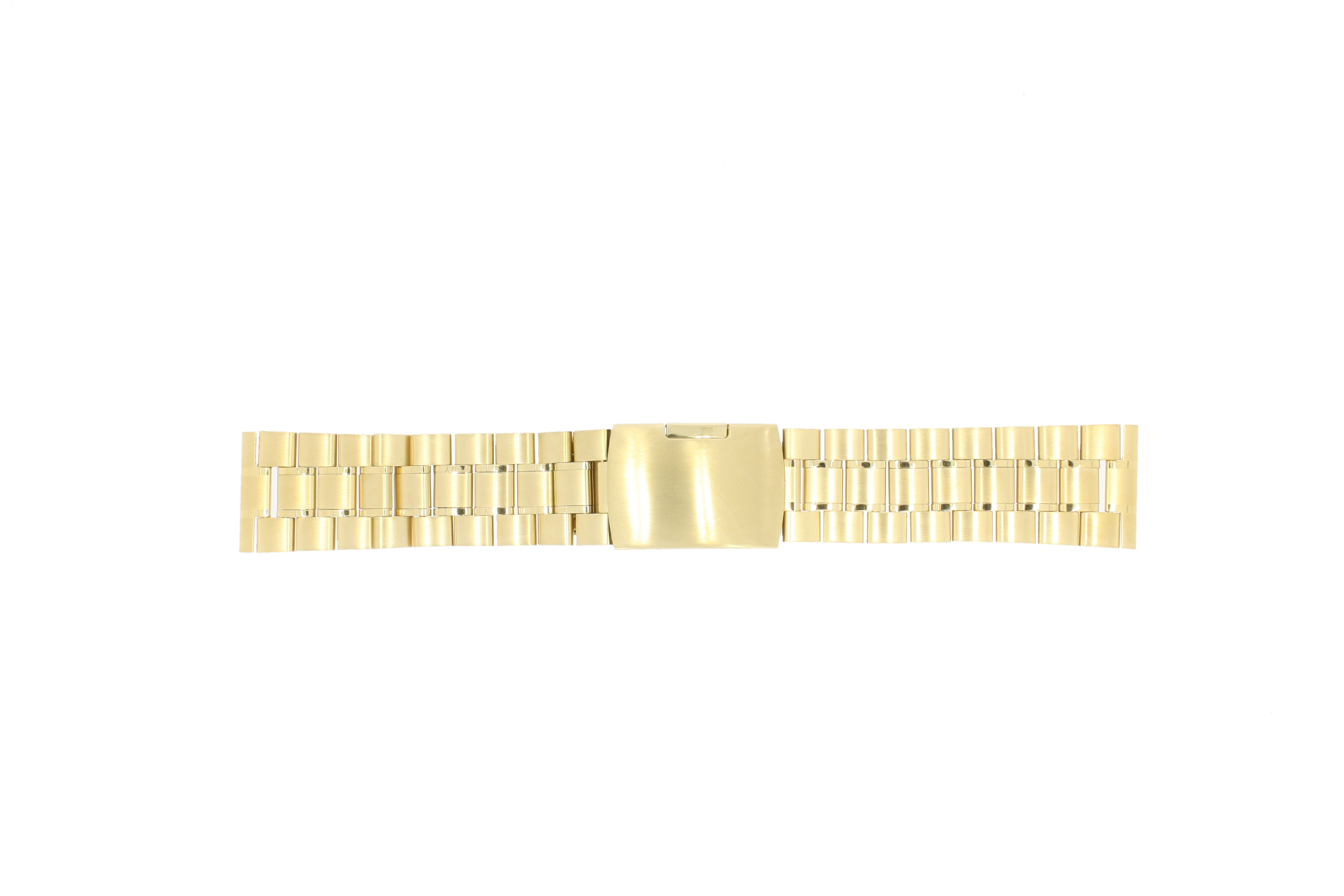 Other brand horlogeband E-ST-DBL-26 Staal Goud 26mm