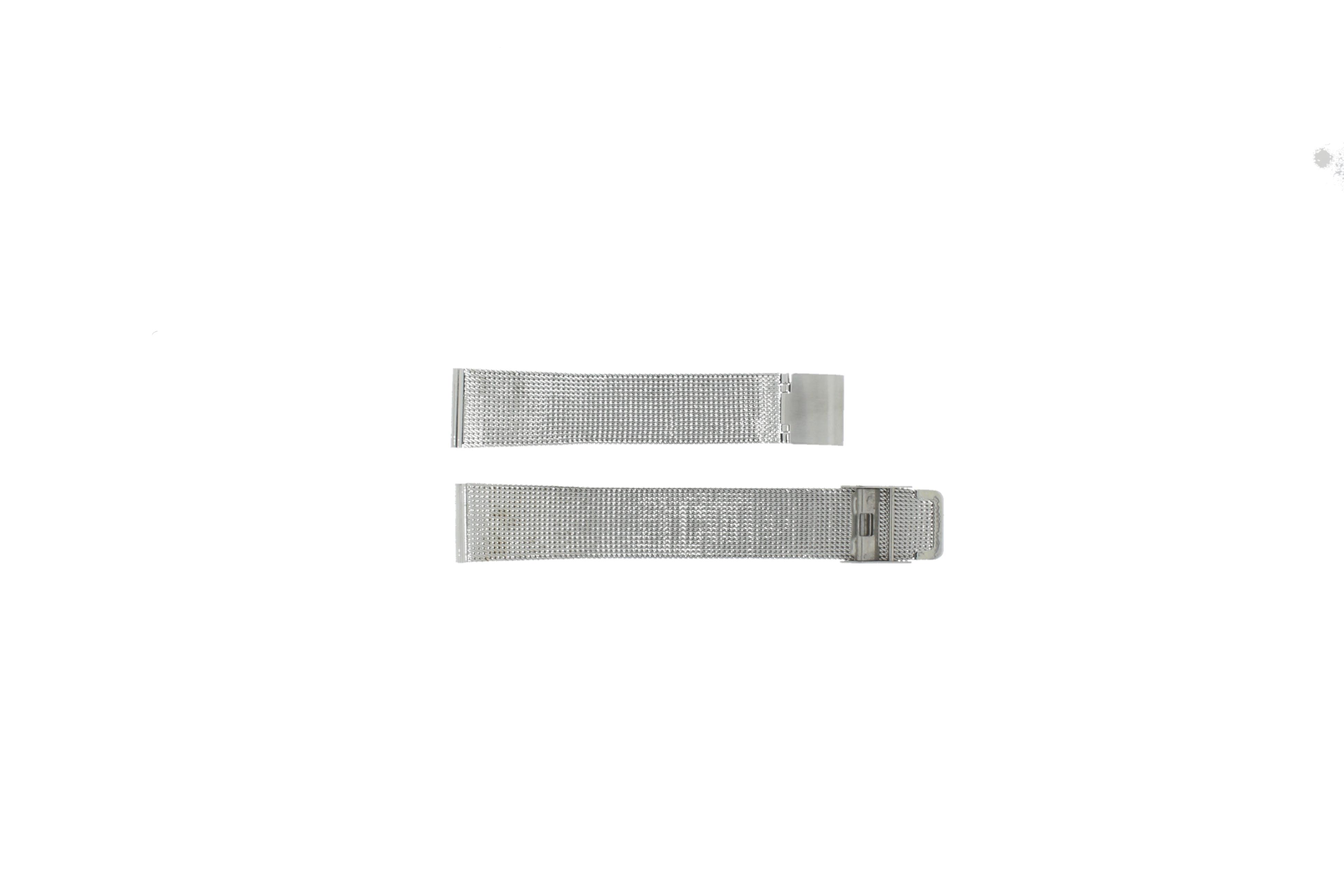 Horlogeband Mesh-22 Staal Zilver 22mm
