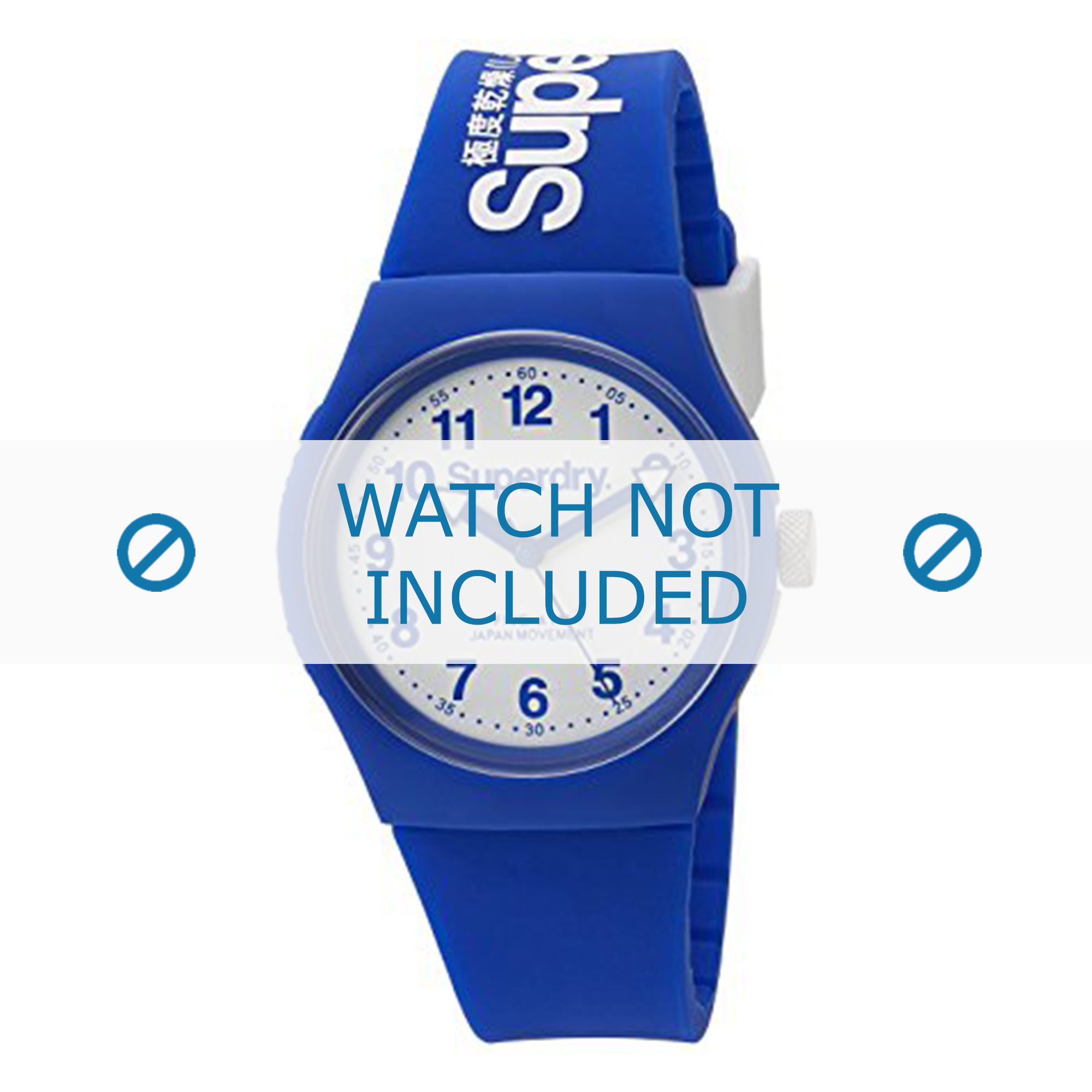 Superdry horlogeband SYG164U Kunststof / Plastic Blauw