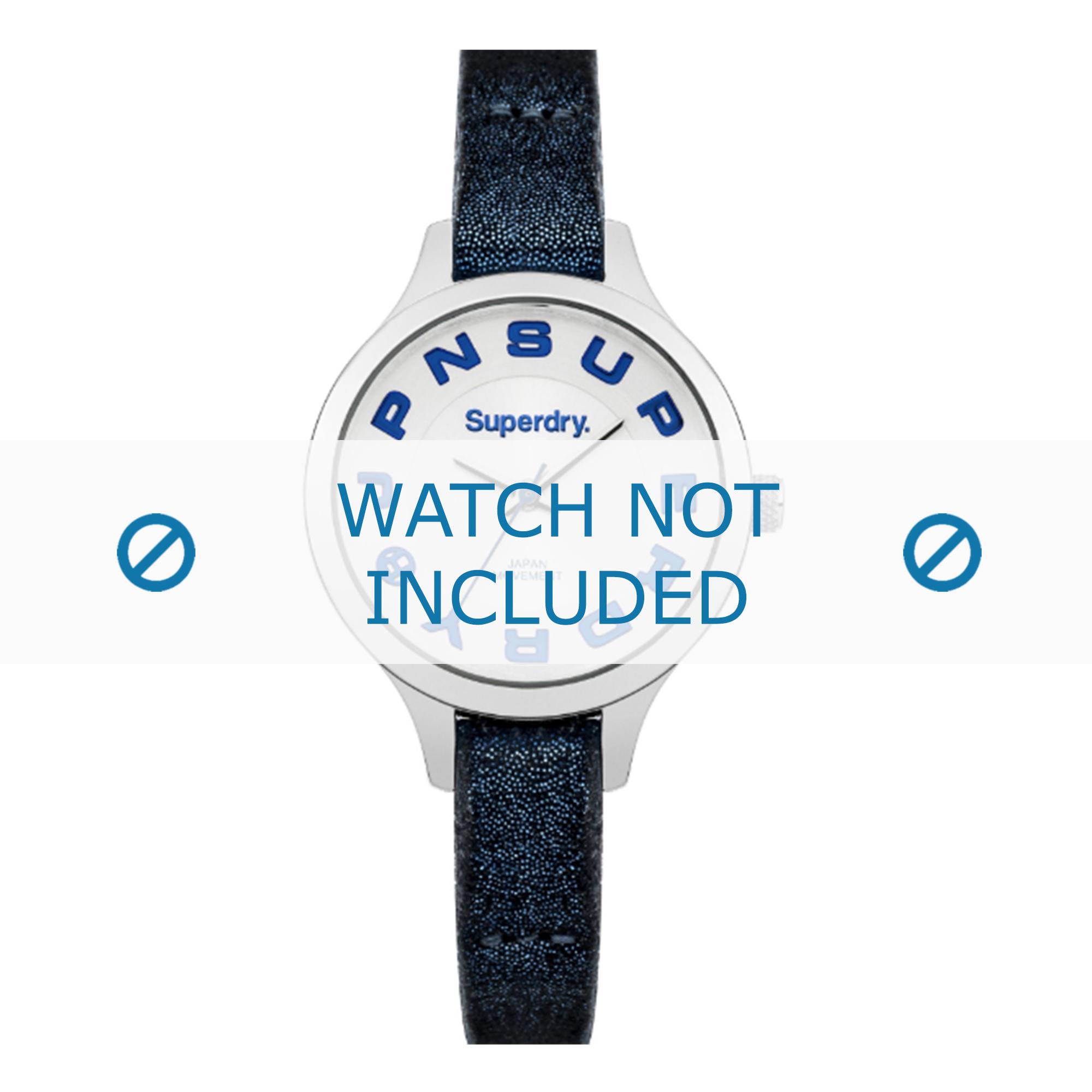 Superdry horlogeband SYL155U Leder Blauw