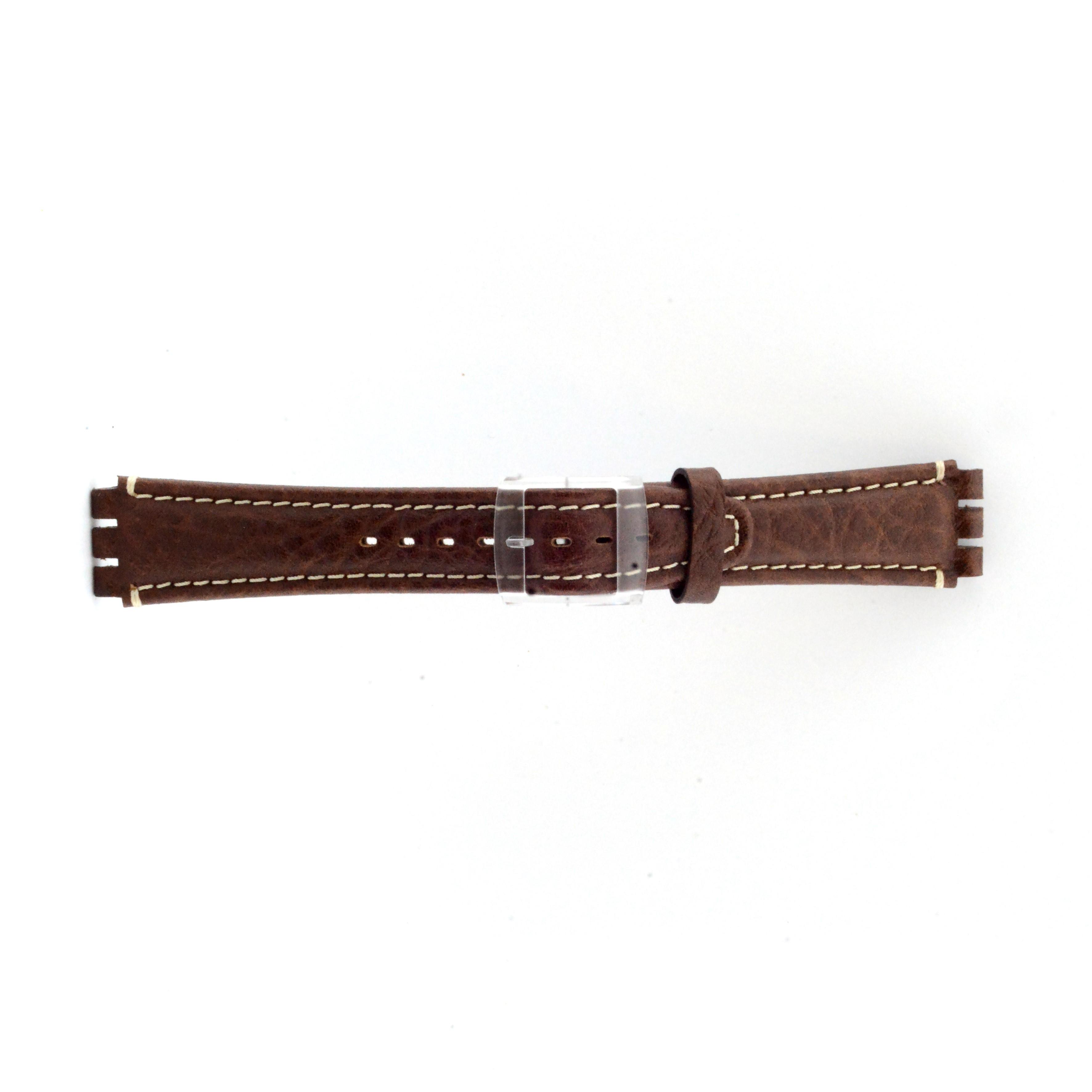 Band passend aan Swatch bruin 19mm ES-3.02