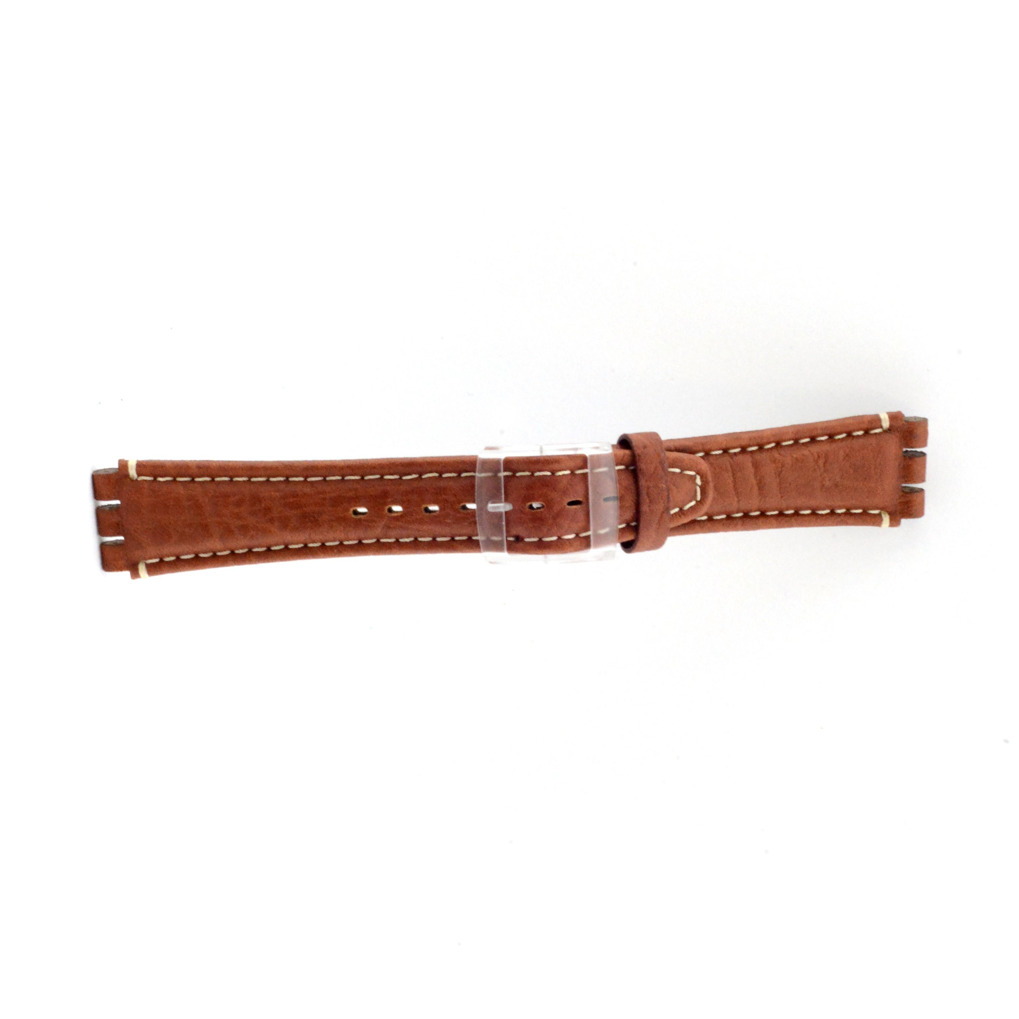 Band passend aan Swatch licht bruin 19mm ES-3.03