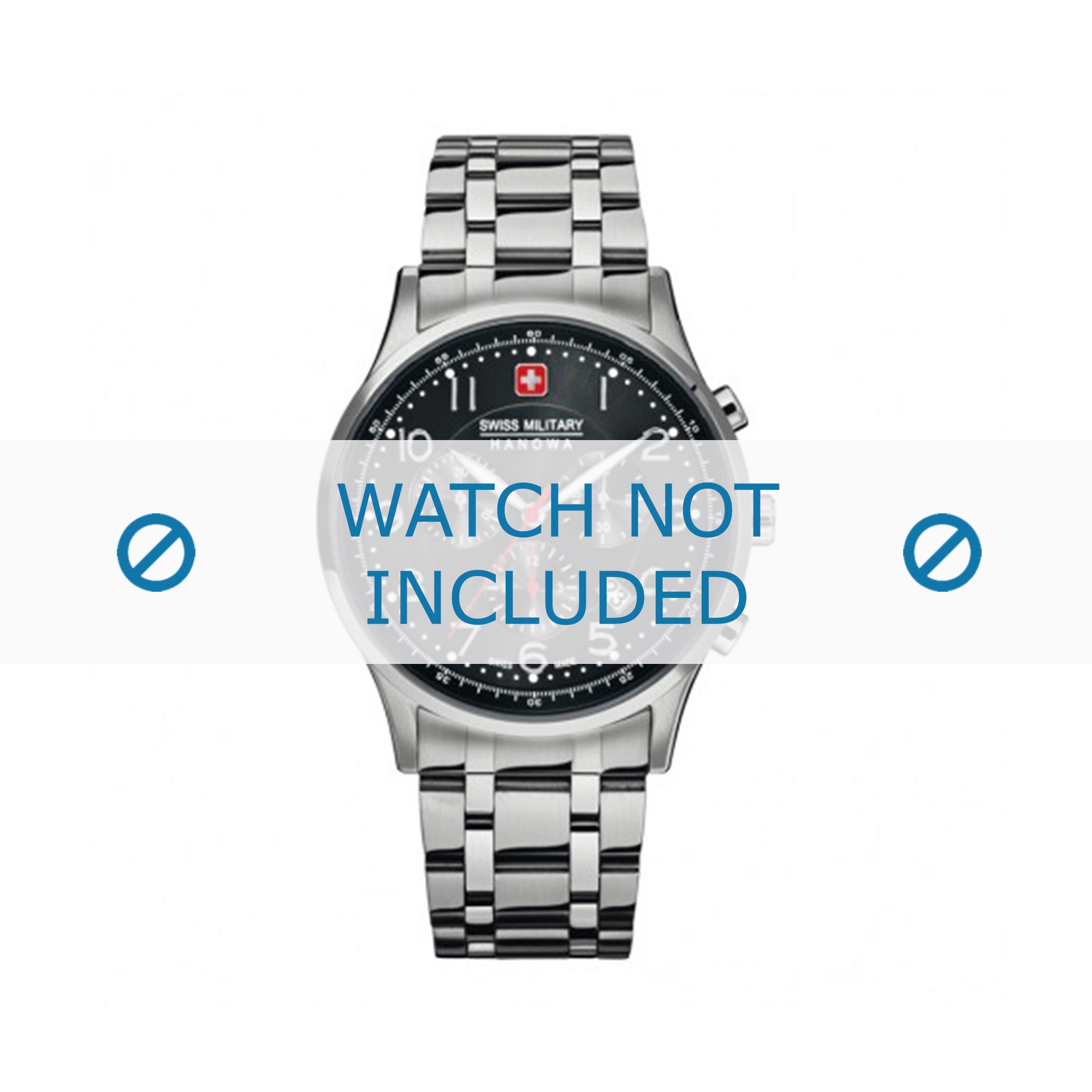 Swiss Military Hanowa horlogeband 06-5187.04.007 Staal Zilver 22mm